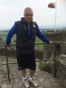 Flying the flag at Harlech Castle
